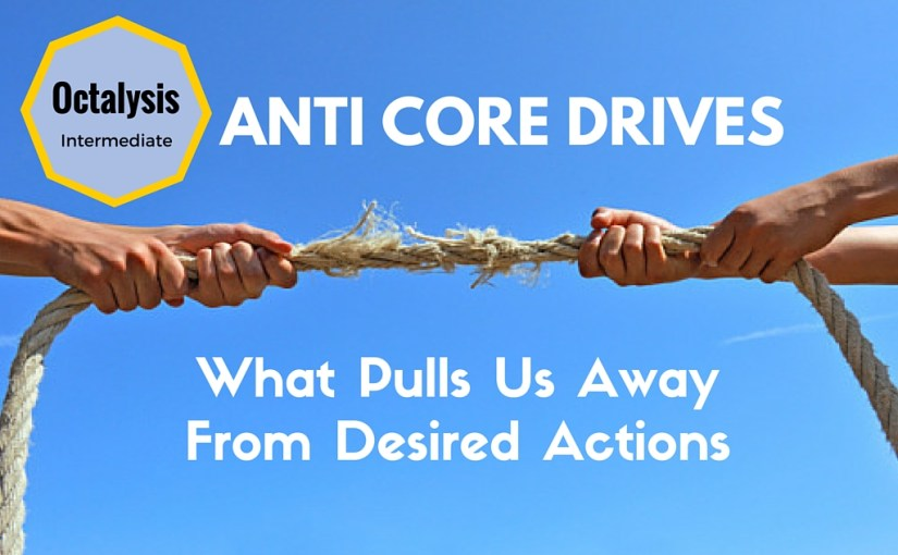 Anti Core Drives: What Pulls Us Away From a Desired Actions
