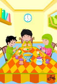 Gambar Kartun Sedang Makan : gambar, kartun, sedang, makan, Gambar, Kartun, Islam, Makan