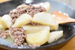 ほくほく山芋とそぼろ蒸し♪レンジで簡単お手軽レシピ★