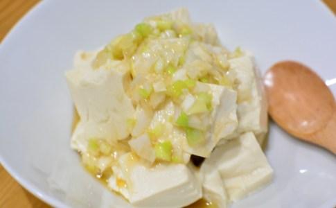 5分でできる♬くずし豆腐のネギ塩和え★のレシピ