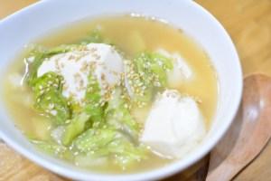 旬の白菜をたくさん使った白菜とくずし豆腐のごま味噌スープのレシピ★