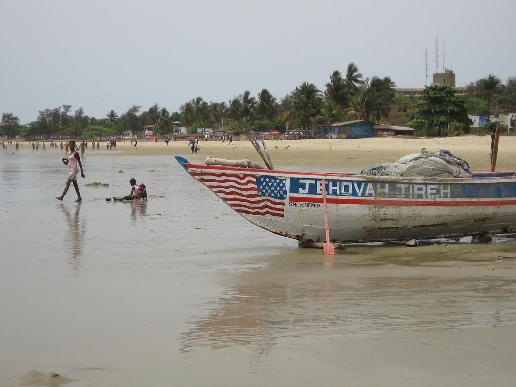 Beach in Freetown, Sierra Leone
