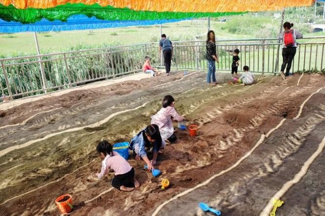 台北南港景點【山水綠生態公園】野餐玩沙溜滑梯親子場地推薦、富教育意義接近大自然