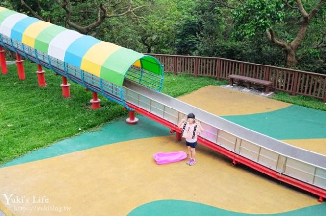 嘉義免費親子景點【半天岩紫雲寺】號稱全台最長滾輪溜滑梯×小沙彌主題公園