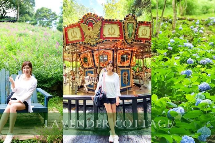 台中新社景點【薰衣草森林】森林旋轉木馬秘境~紫色浪漫花園~約會景觀餐廳