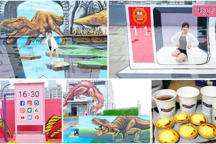 高雄免費景點「時空之城」全球最大千坪3D彩繪,咖啡點心免費享用(詩舒曼蠶絲文化園區)