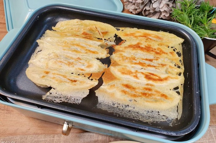 BRUNO電烤盤食譜》煎脆皮鍋貼不黏鍋,一次就成功全聯超夯的好吃鍋貼冰箱必囤!