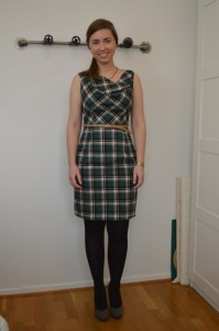 tartan_asymmetrical_neckline_dress_front2