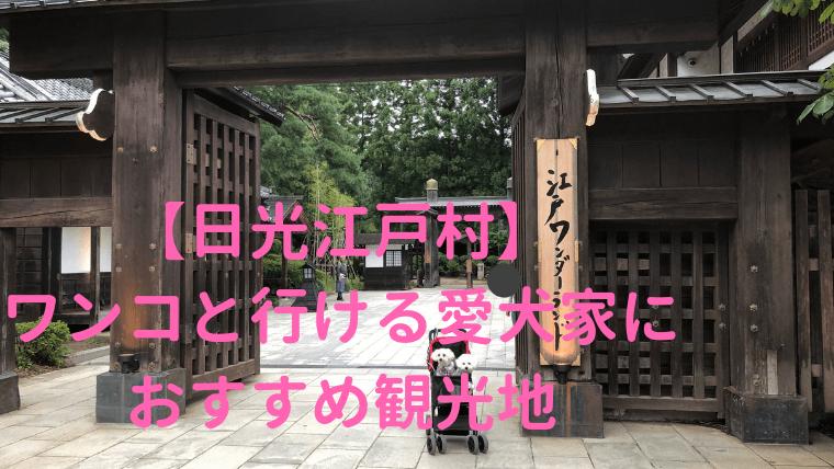 【日光江戸村】犬と一緒に江戸時代へのタイムスリップを楽しもう アイキャッチ