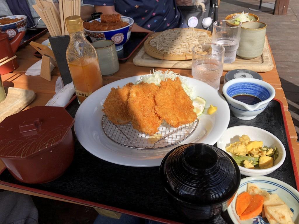 【きりの実】【駒ケ根市】犬と一緒に絶品のソースカツ丼を食べよう ヒレカツ定食