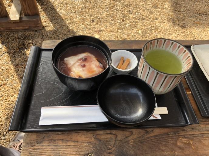 亥鼻公園の【いのはな亭】で犬と一緒に美味しい甘味を食べよう! ぜんざい