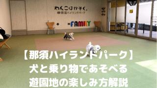 【那須ハイランドパーク】 犬と乗り物であそべる 遊園地の楽しみ方解説 アイキャッチ
