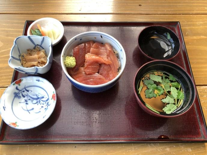 【天水】那須で犬と食事をするならこのお店【美味しい蕎麦】 ミニまぐろ丼