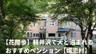 【花闊歩】軽井沢で犬と泊まれるおすすめペンション【嬬恋村】 アイキャッチ