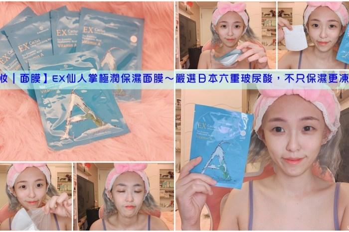 受保護的內容: 【美妝|面膜】EX仙人掌極潤保濕面膜~嚴選日本六重玻尿酸,不只保濕更凍齡!