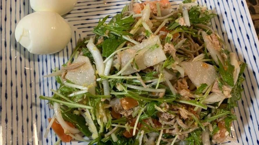 蕎麦入りサラダ