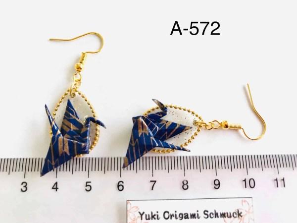 Kranich Origami Ohrringe A-572