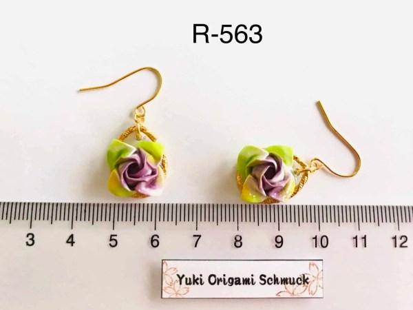 Rosen origami Ohrringe R-563 (2)