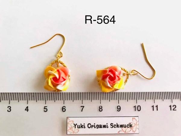 R-564 (2)Rosen origami Ohrringe