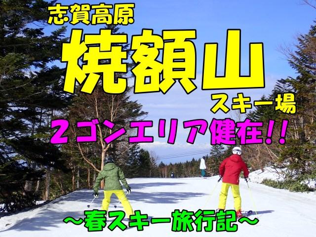 志賀高原焼額山。春スキー旅行記。第2ゴンドラエリアもまだ楽しめる