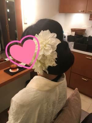 結婚式のヘアメイクリハーサル
