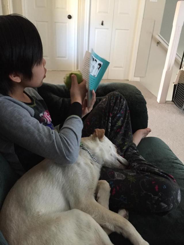 Casper cuddles up
