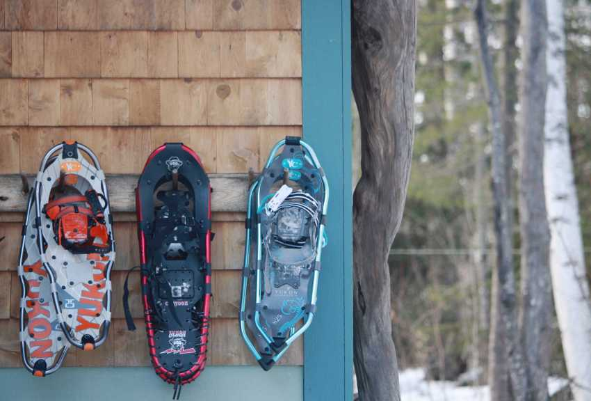 how to store snowshoes
