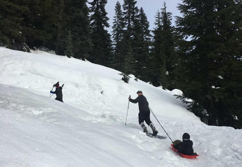 Shane Pulling Sled Uphill