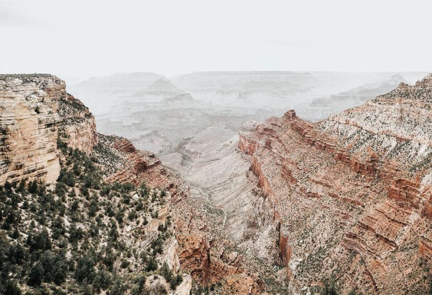 Grand Canyon View in Winter cropped