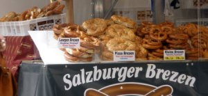 Pretzels in Salzburg...mmmmm