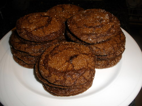 Molasses sugar cookies from allrecipes.com