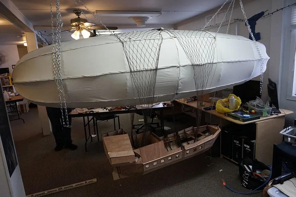 Assembled airship