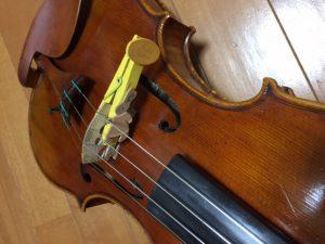 バイオリン 木製洗濯バサミのミュート 驚くほど深く心地よい音色に変化します