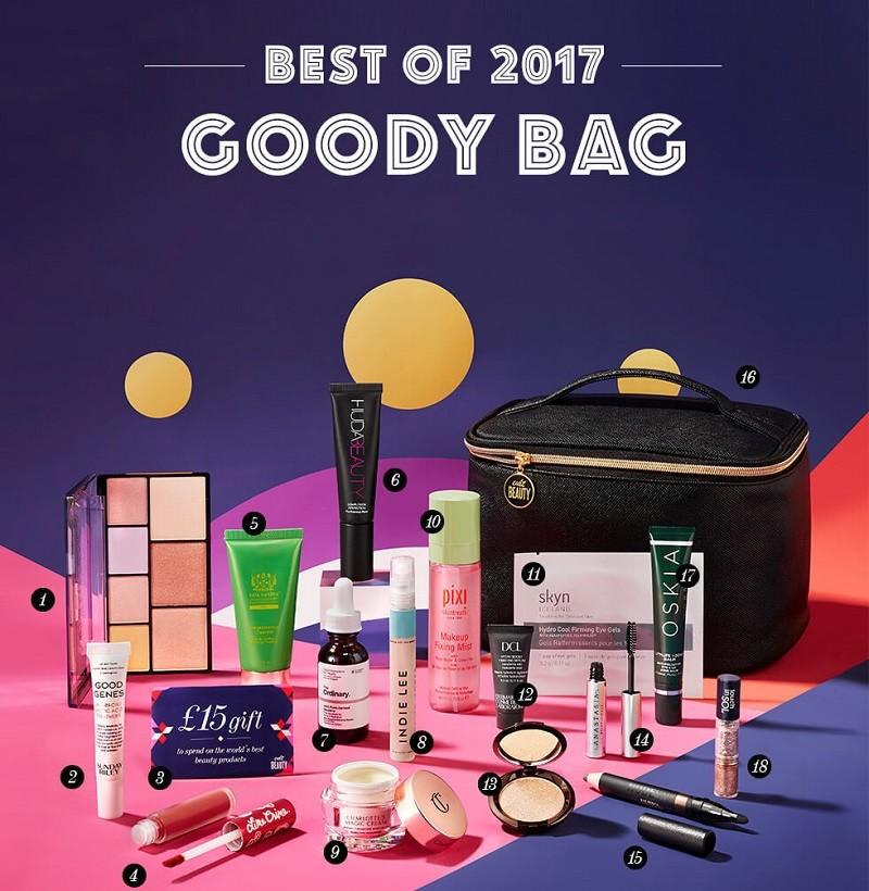 Cult Beauty Goody Bag Best of 2017