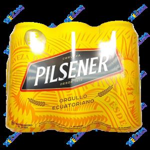 Pilsener Cerveza en Lata 473ml Packx6u