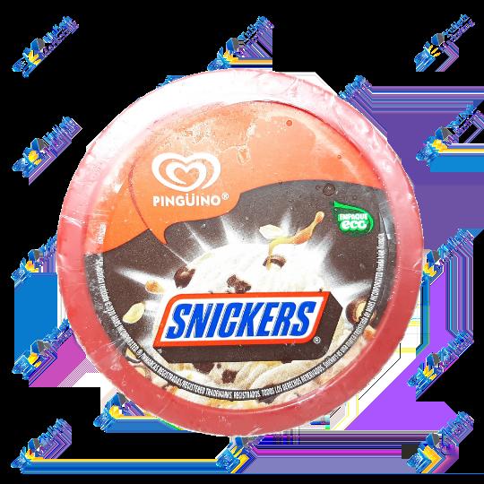 Pingüino Snickers Helado Tarrina 473 ml