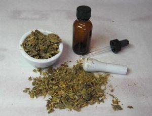 травяной порошок для зубов, эфирные масла