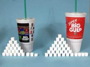количество сахара в газированых напитках