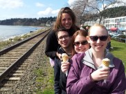 Finally got to White Rock. First things first, ice cream.