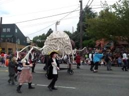 FLYING SPAGHETTI MONSTER!!! Pastafarians running rampant in Fremont.