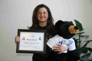 non profit Yes ICAN teddy bear award for Sharyn Yuloff