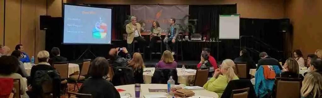 Hank and Sharyn Yuloff providing marketing tips to Matt Brauning's audience