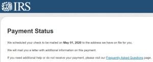 IRS COVID19 Stimulus Status