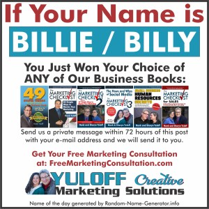 What a difference a day makes if your name is Billie or Billy