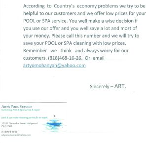 An example of Direct mail done incorrectly