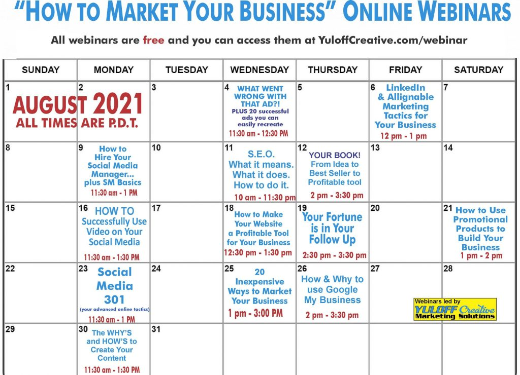 Free Marketing Webinar