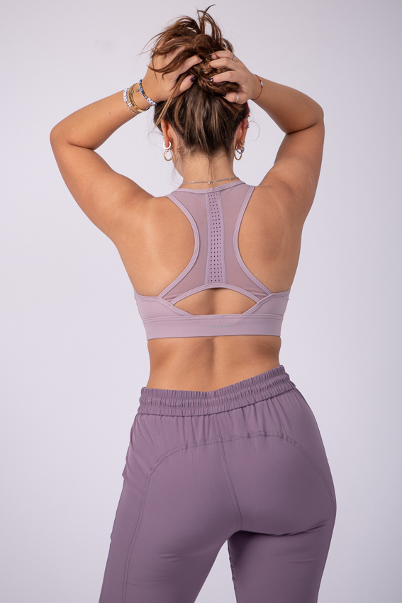 Enthusiastic Full Support Bra - Purple Heather