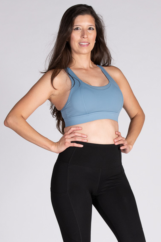 Active High Impact Sport Bra - Stone