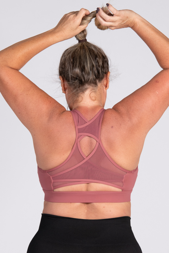 Active High Impact Sport Bra- Rosewood