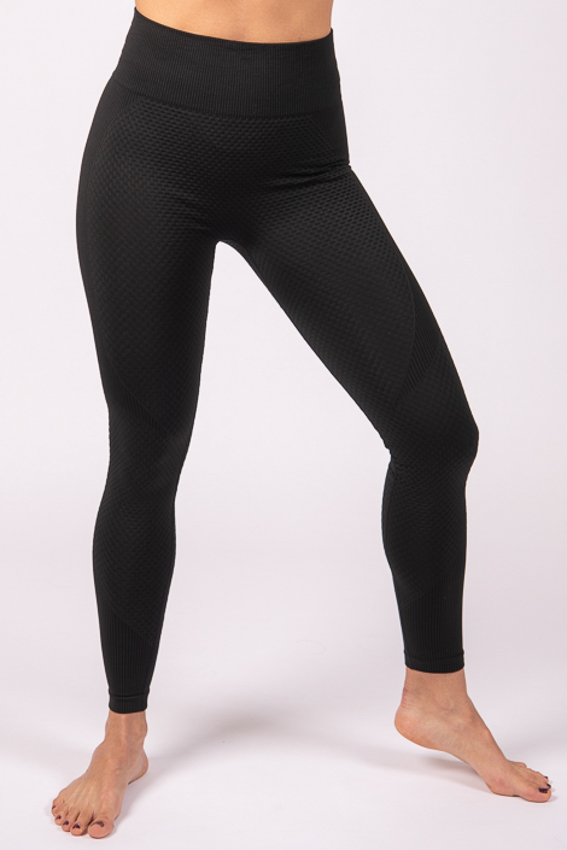 High-Waist Powerful Legging – Midnight Black